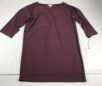 Leith Burgundy Stem Top Tunic Or Dress Small S Oversized NWT New