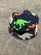 Carters Dinosaur Print Bucket Sun Hat Summer Beach Kids Baby Reversible 0-9M