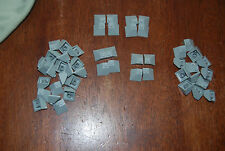 O NEW Lego Lot 50 Double Convex Slope Pieces Light Gray 3045 10179 10192 9334