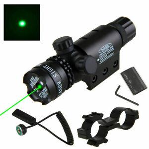 Grün Laser Punkt Anblick für Jagd Fit 20mm Picatinny Gewehr &Taschenlampe Fackel