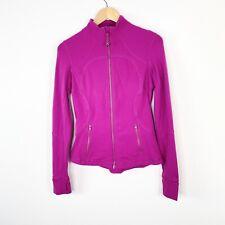 Lululemon Athletica Womens Size 8 Pink Zip Up Jacket  Thumb Holes