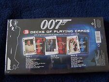 JAMES BOND 007 PLAYING CARDS BOXSET SEALED