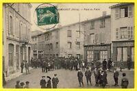 cpa 69 SAINT LAURENT du CHAMOUSSET Place du PLATRE HÔTEL de VILLE Cafés Animée