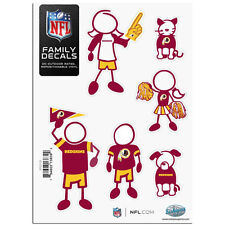 Washington Redskins Family Decal Sticker Set