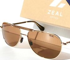 a27bb02d37f NEW  ZEAL BARSTOW Aviator GOLD POLARIZED Ellume Copper lens Sunglass 10938