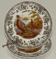 Queen's Quintessential Game * 6 DINNER PLATES * Pheasant Birds New/Tags