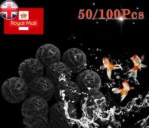 50/100Pcs Biological Bio Ball Aquarium Fish Nano Tank Pond Canister Filter Media