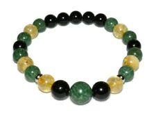 African Jade Citrine Tourmaline Bracelet Crystal Healing Natural Stones Unisex