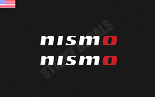"(2) Nissan Nismo Decal Sticker WHITE/RED ""O"" jdm vinyl Stickers"
