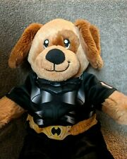 Build A Bear Workshop Tan,Brown Puppy Dog Plush,Brown Circle Around Eye Batman