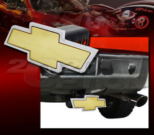 """BULLY 1.25"""" & 2"""" TRAILER TOWING HITCH RECEIVER COVER LICENSED FOR CHEVROLET LOGO"""
