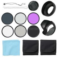 58mm CPL+UV+FLD Lens Filters Hood Cap Kit ND2 ND4 ND8 For Canon Nikon SLR Camera