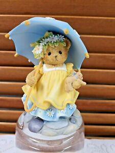 2015 CT1601 Cherished Teddies Bear Sunny with Umbrella & Daisies