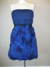 New BCBG MAXAZRIA Ruffles Navy Dress Size 10