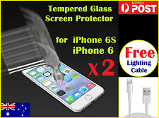 2x Scratch Resist Tempered Glass Screen Protector for Apple iPhone 6 / 6s