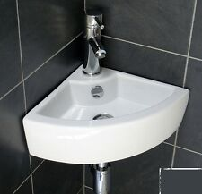 Basin Sink Compact Small Corner Wall Hung Modern Simple Cloakroom Ceramic