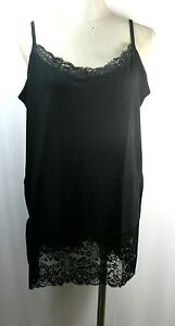 Extra large camisole with lace, cotton/spandex, nylon/spandex lace