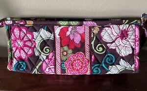 Vera Bradley Mod Floral Pink Brush Pencil Cosmetic Case Bag retired