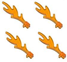 ☀️NEW Lego Trans ORANGE FLAMES 4x Fire pit Pieces Bulk lot Cooking city castle