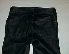 "Women's American Eagle Jeans Pants sz 0 x 30"" Skinny Stretch Jegging Pleather"