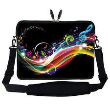 """15.6"""" Laptop Computer Sleeve Case Bag w Hidden Handle & Shoulder Strap 2704"""