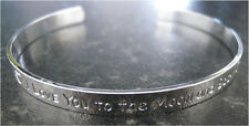 GIFT PRESENT I LOVE YOU TO THE MOON AND BACK BANGLE - SUCH A STATEMENT BRACELET