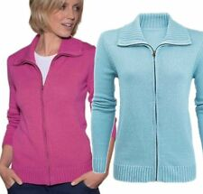 Zip Cotton Collared Jumpers & Cardigans for Women