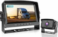 "Wired Backup Camera With 9"" Monitor System Kit IP69 Waterproof Rear View DY901"