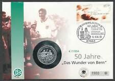 280628) Bund Numisbrief mit Silber Medallie Fußball Wunder von Bern 2004