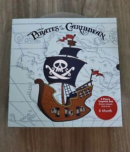 Disney Parks Pirates of the Caribbean 4 Piece Layette Baby Set 6 Month