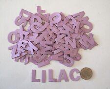 NO 075 Scrapbooking - 104 Lilac Alphabet / Letters - Not Stickers - Scrapbook