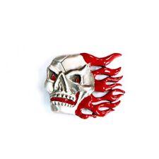 Flaming Skull Belt Buckle Made in USA Biker
