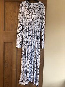 Topshop Maternity Star/ Polka Dot Print Maxi Dress With Slits Size 12/14