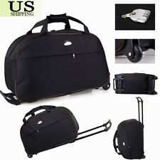 "24"" Rolling Wheeled Tote Duffle Bag Carry On Luggage Travel Suitcase with Wheels"