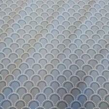 Stoff Meterware Baumwollstoff grau weiß Halbkreis Punkte Bogen retro Baumwolle