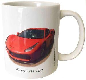 Ferrari 488 2018 - 11oz Ceramic Mug - Ideal Gift for the Italian Car Fan