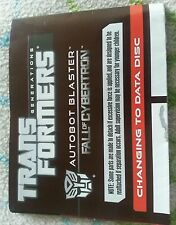 Transformers FALL OF CYBERTRON AUTOBOT BLASTER INSTRUCTION BOOKLET ONLY