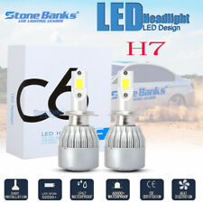 2X H7 LED Headlight Conversion Kit COB Bulb 100W 20000LM White High Power 6000K