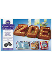 Wilton Cake Tin Countless Celebrations Pan Set Letters & Numbers Personalise