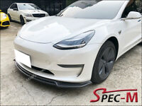 Fits Tesla Model 3 JPM CF MX2 Carbon Fiber Front Bumper Lip Splitter 2017-2020