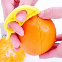 Fruit Skin Remover Tool Plastic Citrus Orange Opener Peeler Slicer Cutter