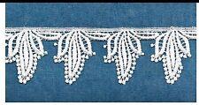 """Gorgeous Lace Venice Applique Ivory 2*1/2"""" Rayon Crafts Dress Bridal Trim #2159"""
