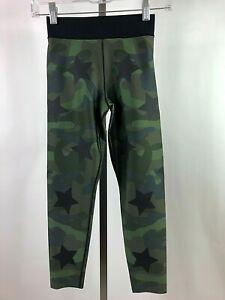Ultracor Ultra High Green Camouflage Star Knockout Cropped Leggings XS