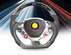 Carbon fiber LED steering wheel For Ferrari 488 F430 456 599 FF F12berlinetta