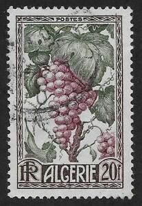 Algeria #229 (A34)  USED - 1950 20fr Fruit of the Land -Grapes (C1)