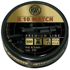 RWS R10 Match .177 Air Rifle Pellets 4.50 Air Gun Ammunition Full Tins 500