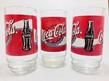 Coca Cola Coke Glasses 2001 # 30778 Set of 3 NEW