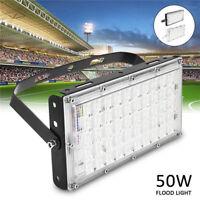 50W LED Fluter Flutlicht Außen Scheinwerfer Lampe Weiß IP65 für Football Field