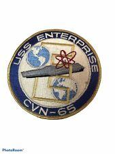 USS Enterprise CVN-65 US Navy Patch 4 1/2 Inch Nuclear Aircraft Carrier