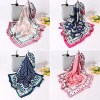 Women Scarves Shawls Silk Satin Square Scarf Neckerchief Bandana Neck Tie Hijab
